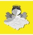 beautiful angel design vector image