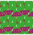 Umbrella and drop geometric seamless pattern vector image