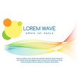abstract colourful line sound waves banner vector image