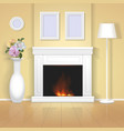 Classic interior with fireplace vector image