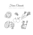 Farming farm elements Hand vector image