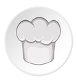 Hat chef icon cartoon style vector image
