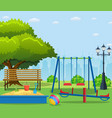 kids playground cartoon concept background vector image