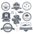 military set label template of emblem element for vector image