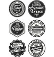 premium quality retro badges collection black and vector image