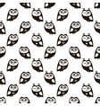 seamless pattern with black owls vector image