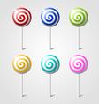 sweet glossy lollipops vector image