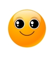 yellow round emoticon vector image