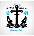Doodle anchor with place for your text Vector Image