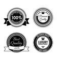 golden round reward seals collection with vector image