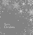 Retro simple Christmas card with white snowflakes vector image vector image