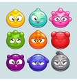 Jelly ball characters vector image
