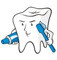 tooth protected vector image vector image