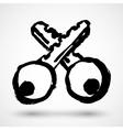 Key concept design grunge icon vector image vector image