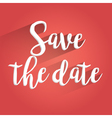 Save the Date Lettering Design vector image