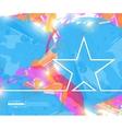 Creative star Art template vector image