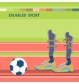 Disabled athletes sport competition vector image