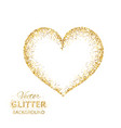 golden glitter heart frame with space for text vector image
