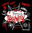 Halloween party Happy Halloween message design vector image