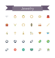 Jewelry Flat Icons vector image