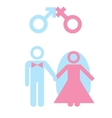 Marriage vector image