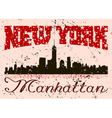 New York city Typography Graphic with grunge Retro vector image
