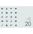 Set of columbus day icons vector image