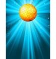 Sparkling blue disco ball vector image