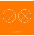 Stock Linear icon yes and no vector image