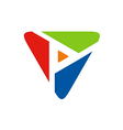 Triangle abstract colorful business logo vector image