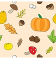 Seamless Background with Fall plants vector image