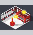 theatre hatcheck room composition vector image
