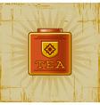 Retro Tea Can vector image vector image
