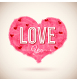 Fluffy heart icon for Your romantic design vector image