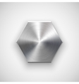 Abstract polygon Button Template vector image