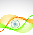 elegant indian flag design vector image