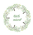 Frame or label with trees for natural eco products vector image vector image