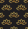 Golden Lotus plant pattern background Seamless vector image vector image