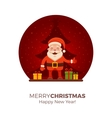 Cartoon Santa Claus vector image