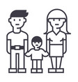 familymother father and son line icon vector image