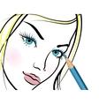 Girl with beautiful eyes vector image