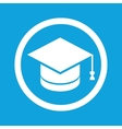 Graduation sign icon vector image