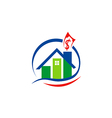 house sold property realty logo vector image