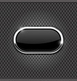 metal perforated background with black oval glass vector image