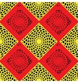 Red and Yellow Lattice Pattern vector image