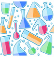 Seamless pattern laboratory glass vector image