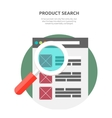 Search Product Website Design Flat vector image