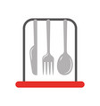 set kitchen cutlery icon vector image