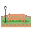 Isolated bench and lamp of park design vector image