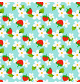 Floral seamless pattern with strawberry vector image